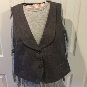 Van Heusen Houndstooth Vest Size L